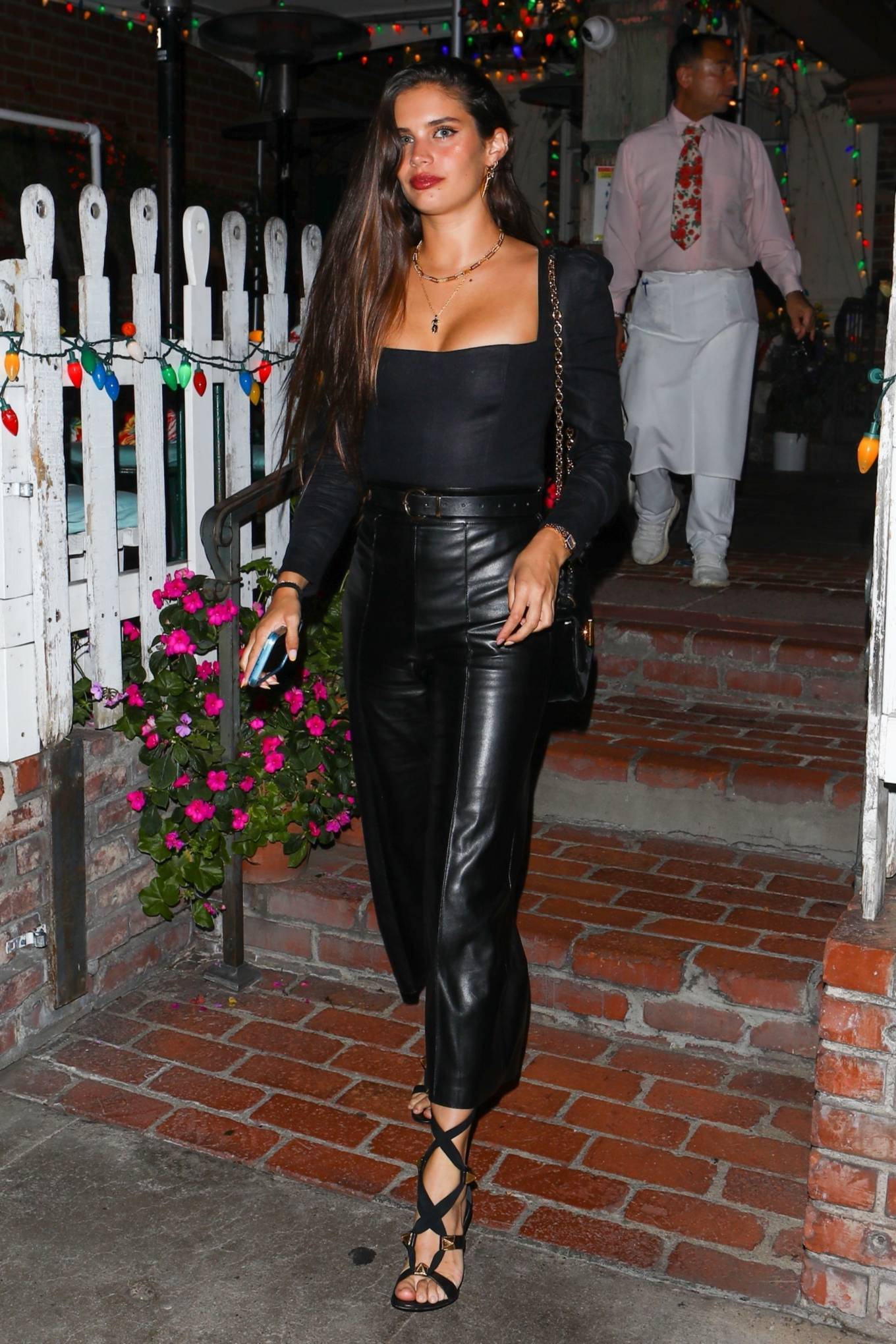 Jasmine Tookes 2021 : Jasmine Tookes – With Josephine Skriver and Sara Sampaio night out at the Ivy in West Hollywood-02