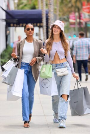 Jasmine Tookes - With Josephine Skriver steps out in Beverly Hills