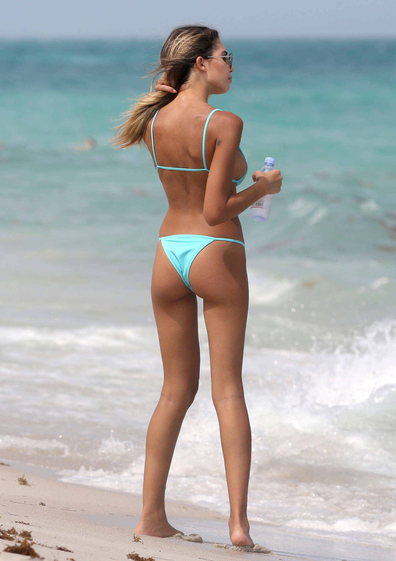 Candid beach bikini ass butt west michigan booty thong