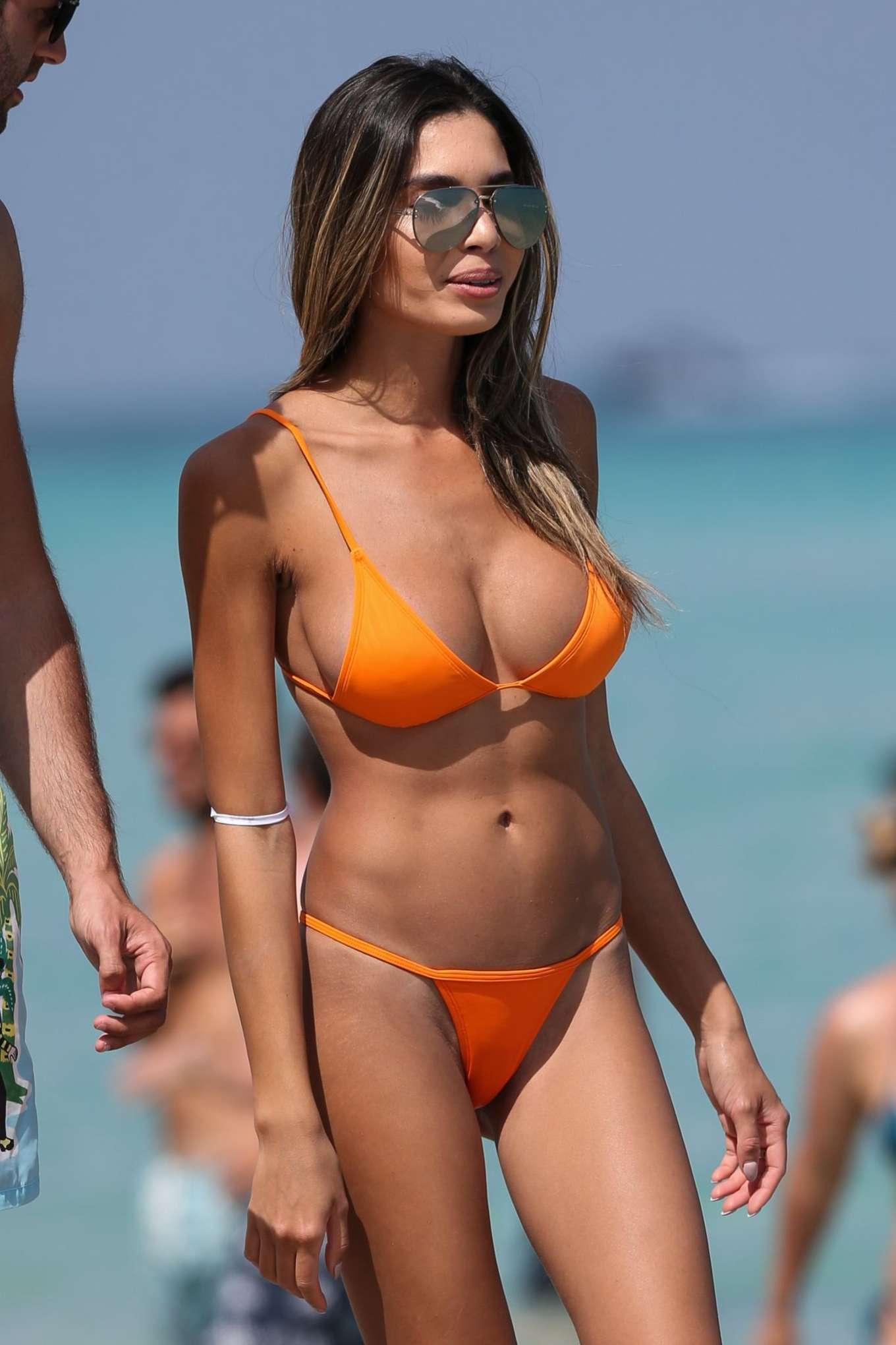 Jasmine Tosh In Orange Bikini 2017 12 Gotceleb