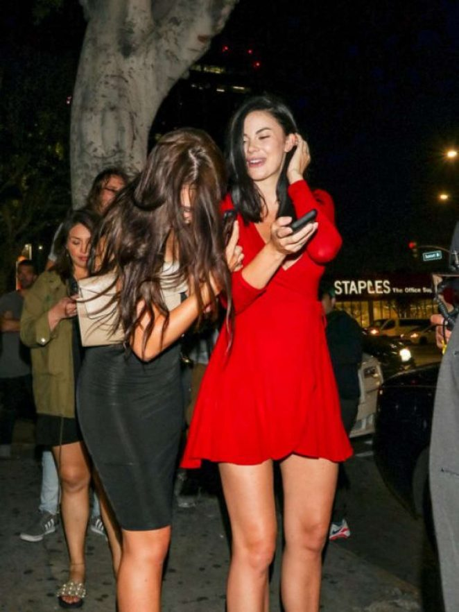 Jayde Nicole in Red Dress - Night Out in Los Angeles