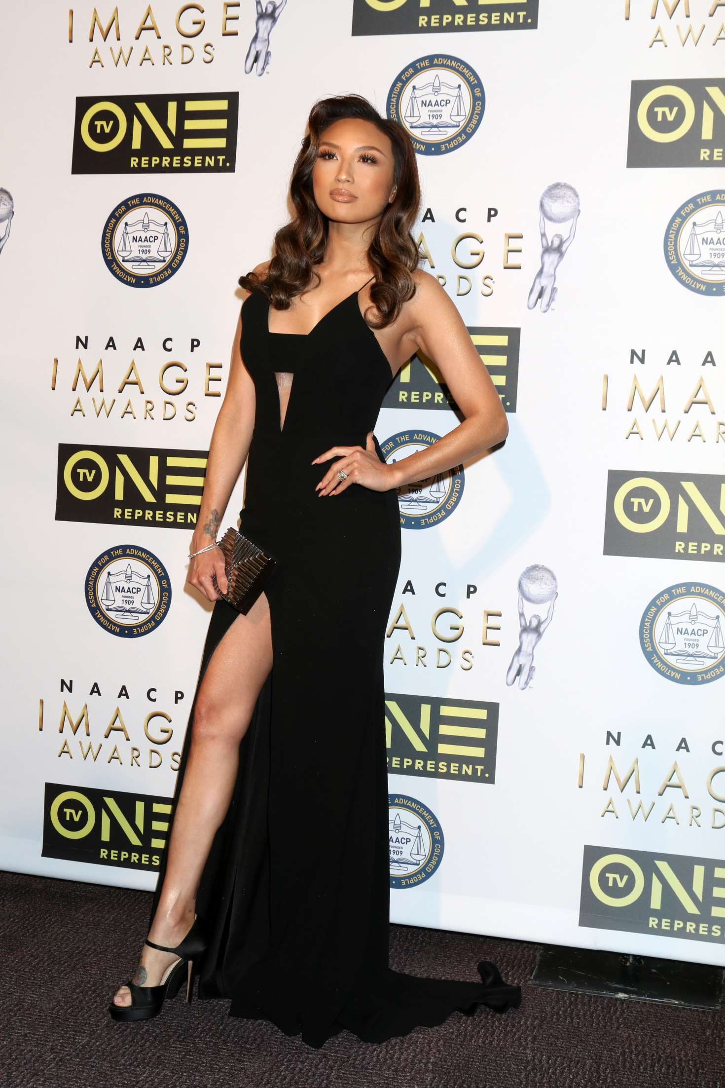 Jeannie Mai – Non-Televised 48th NAACP Image Awards in Pasadena