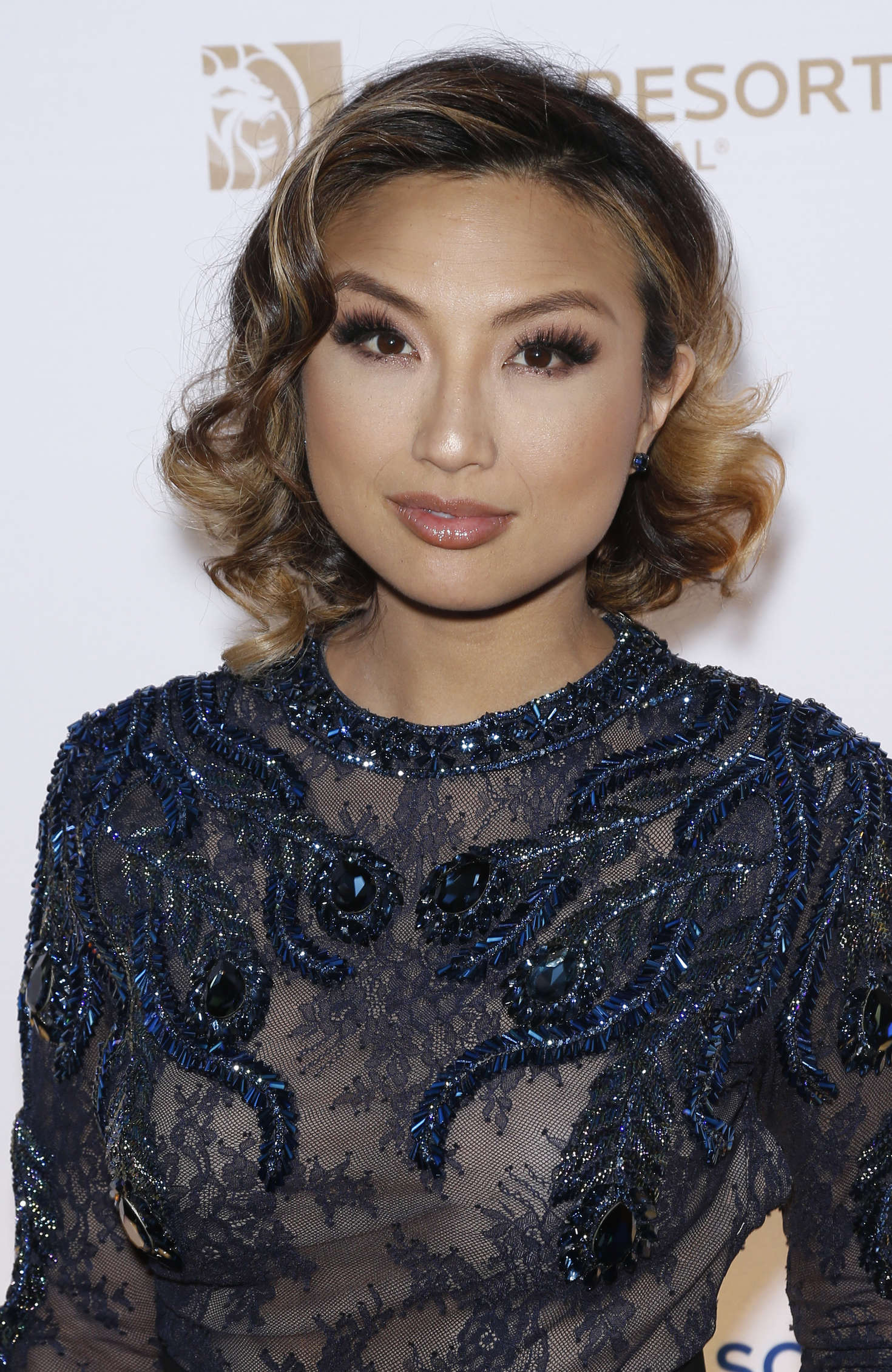 Jeannie Mai One Night For One Drop Blue Carpet In Las Vegas