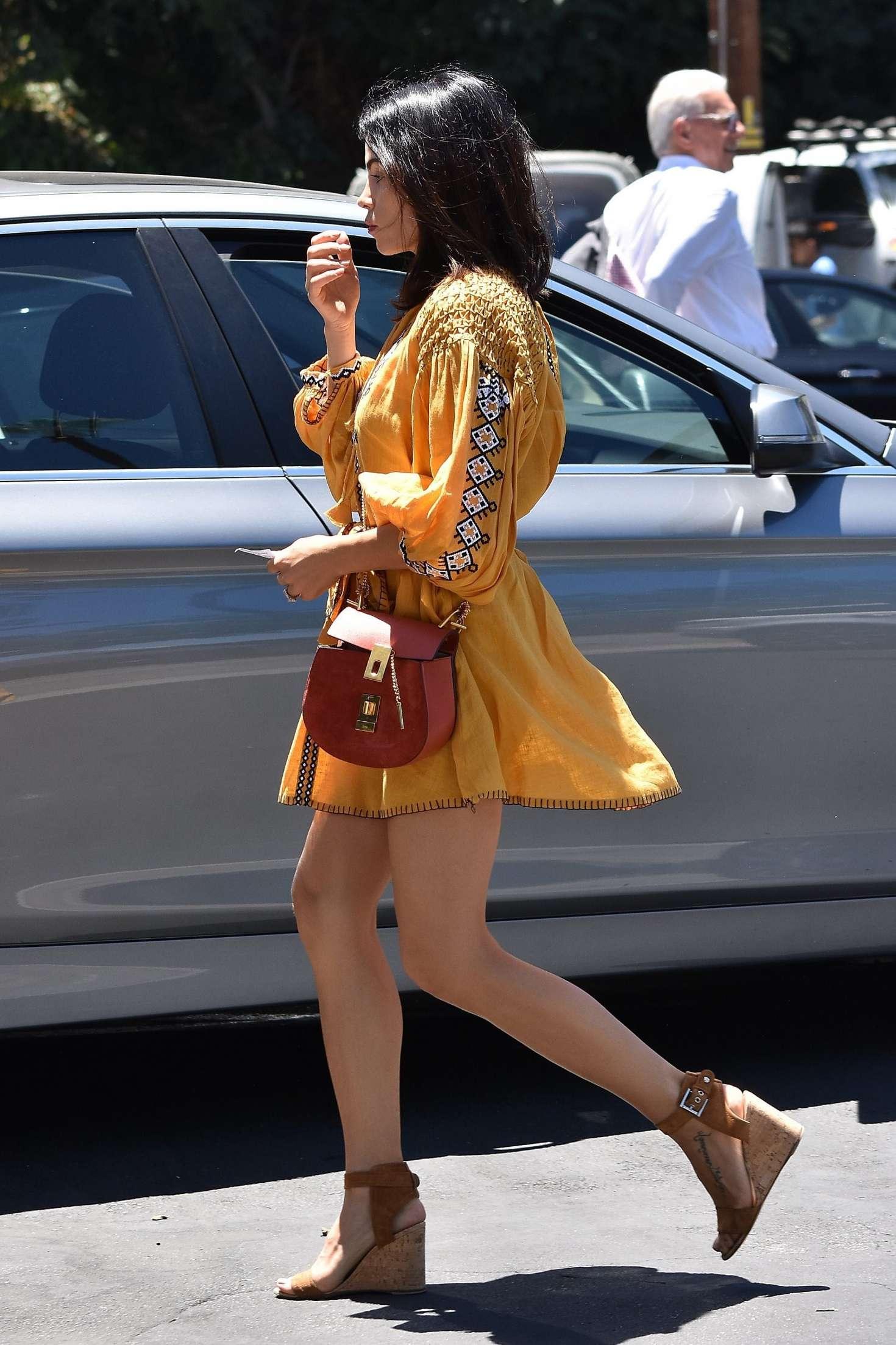 JeJenna Dewan Tatum in Mini Dress out for a Sushi lunch in Studio City