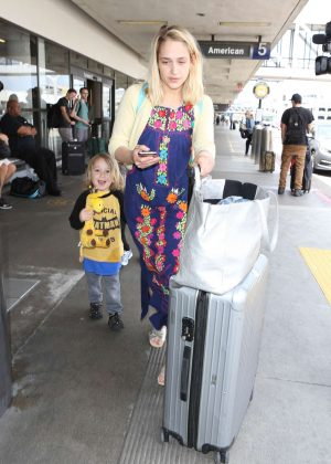 Jemima Kirk at LAX Airport in LA