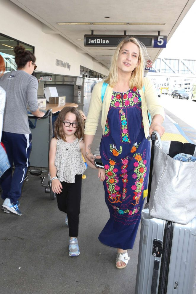 Jemima Kirk at LAX Airport in LA -07