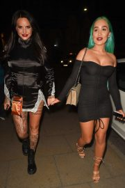 Jemma Lucy and Helen Briggs - Night out at Menagerie in Manchester