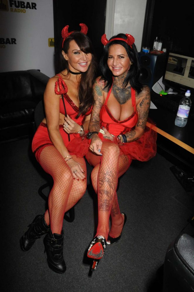 Jemma Lucy and Lizzie Cundy - Debenhams Halloween Party in London