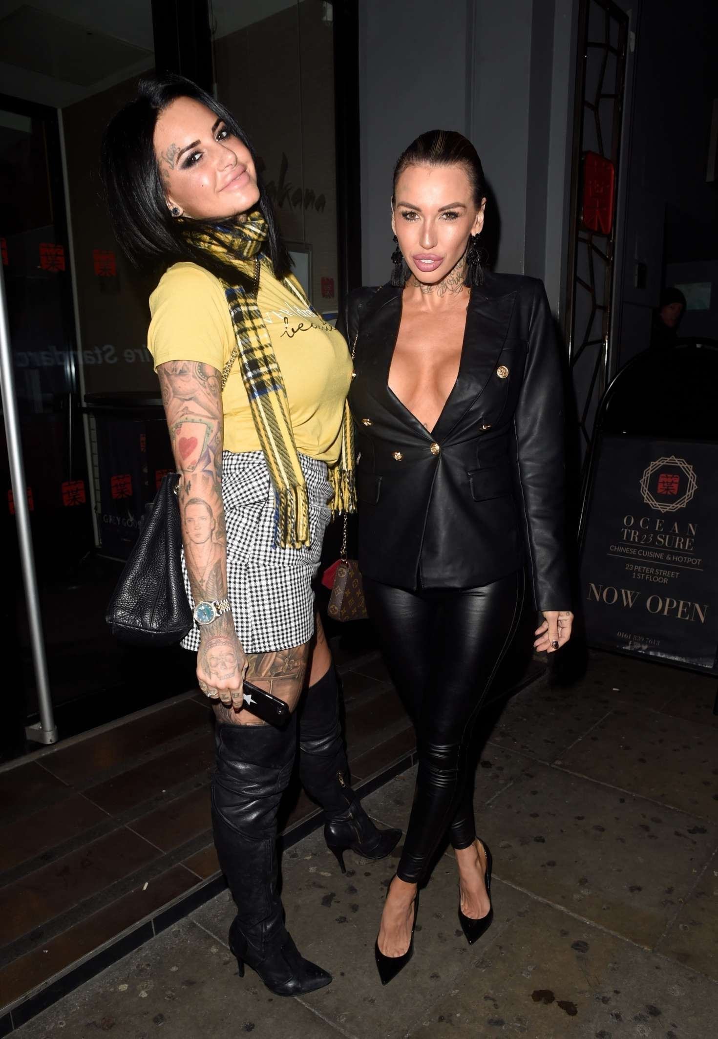 Jemma Lucy and Sallie Axl – Night out at the Sakana Restaurant in Manchester