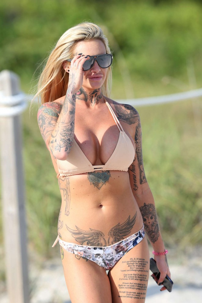 Jemma Lucy in Bikini in Miami