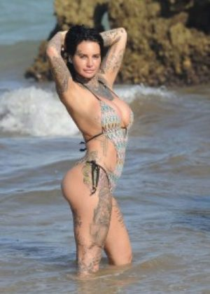 Jemma Lucy in Swimsuit on holiday in Gran Canaria