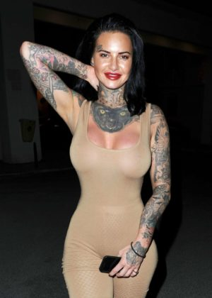 Jemma Lucy in Tights out in Manchester