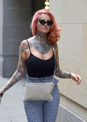 Jemma Lucy - Leaving House Of Evelyn Hair and Beauty Salon in Manchester