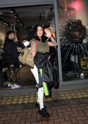 Jemma Lucy - Night Out at G SHOCK Store in London
