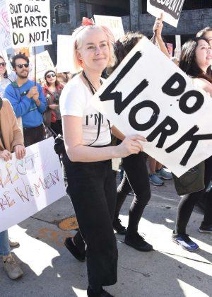 Jena Malone - 2018 Women's March in Los Angeles