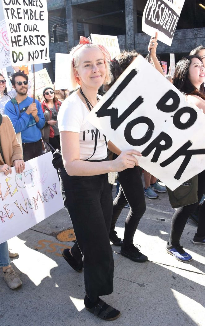 Jena Malone – 2018 Women's March in Los Angeles