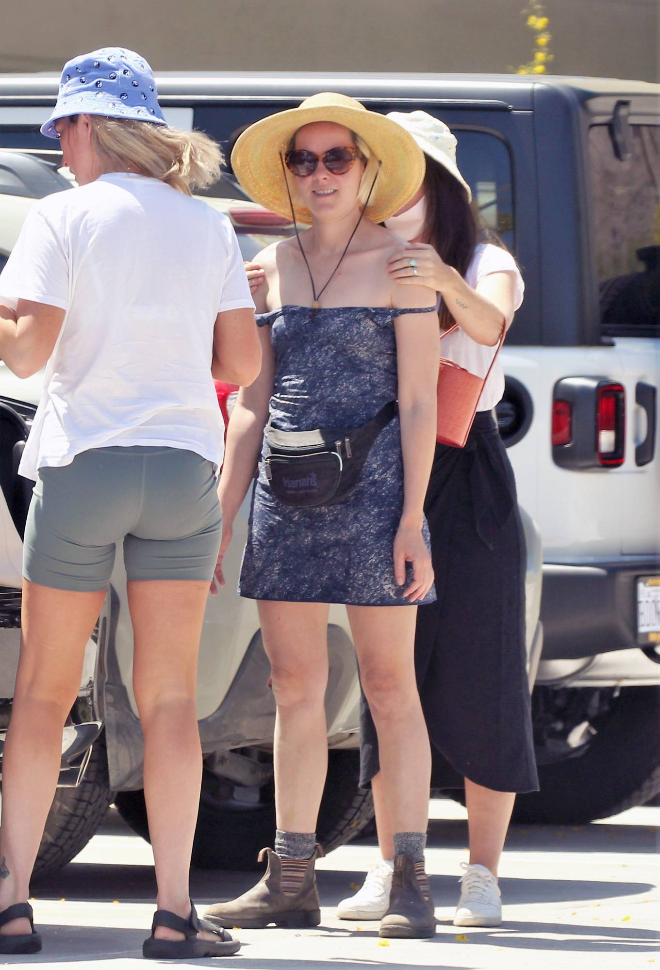 Jena Malone 2021 : Jena Malone – In blue summer mini dres on vacations in Palm Springs-15