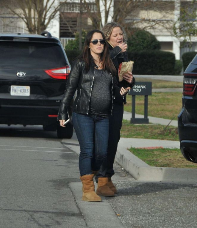 Jenelle Evans in Jeans out in Wilmington