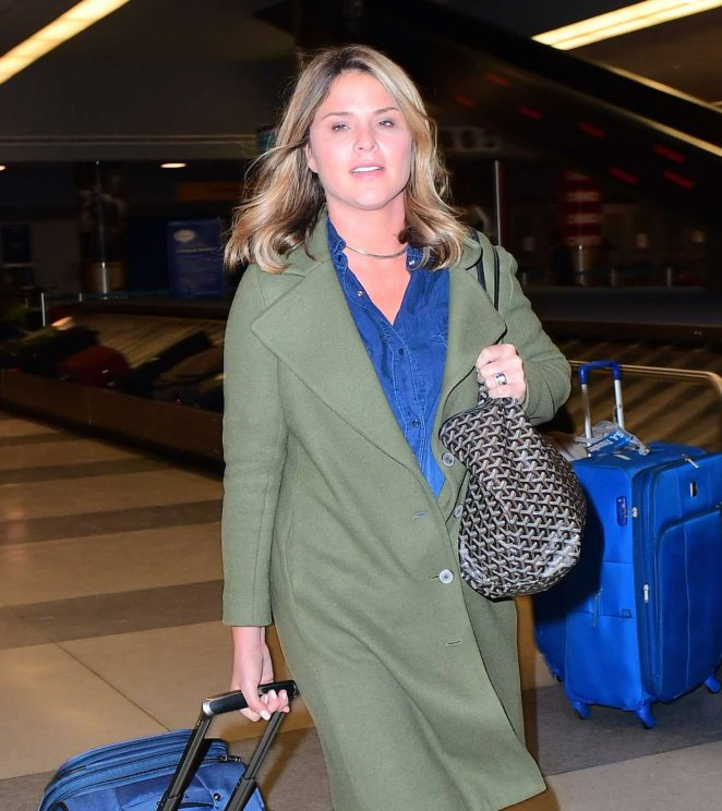 Jenna Bush Hager out in NYC