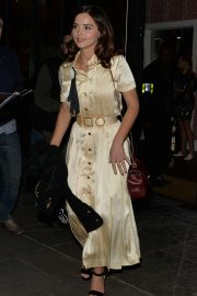Jenna Coleman - Leaving Ham Yard Hotel in Soho in London