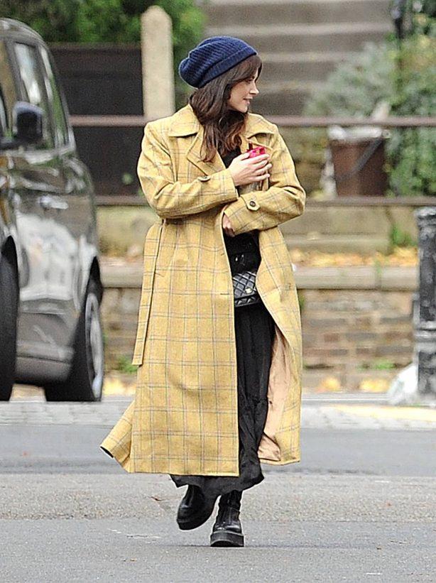 Jenna Coleman - On the street of London