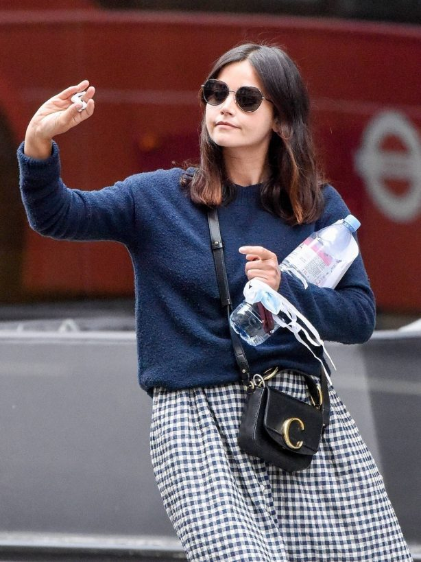 Jenna Coleman - Out and about in London