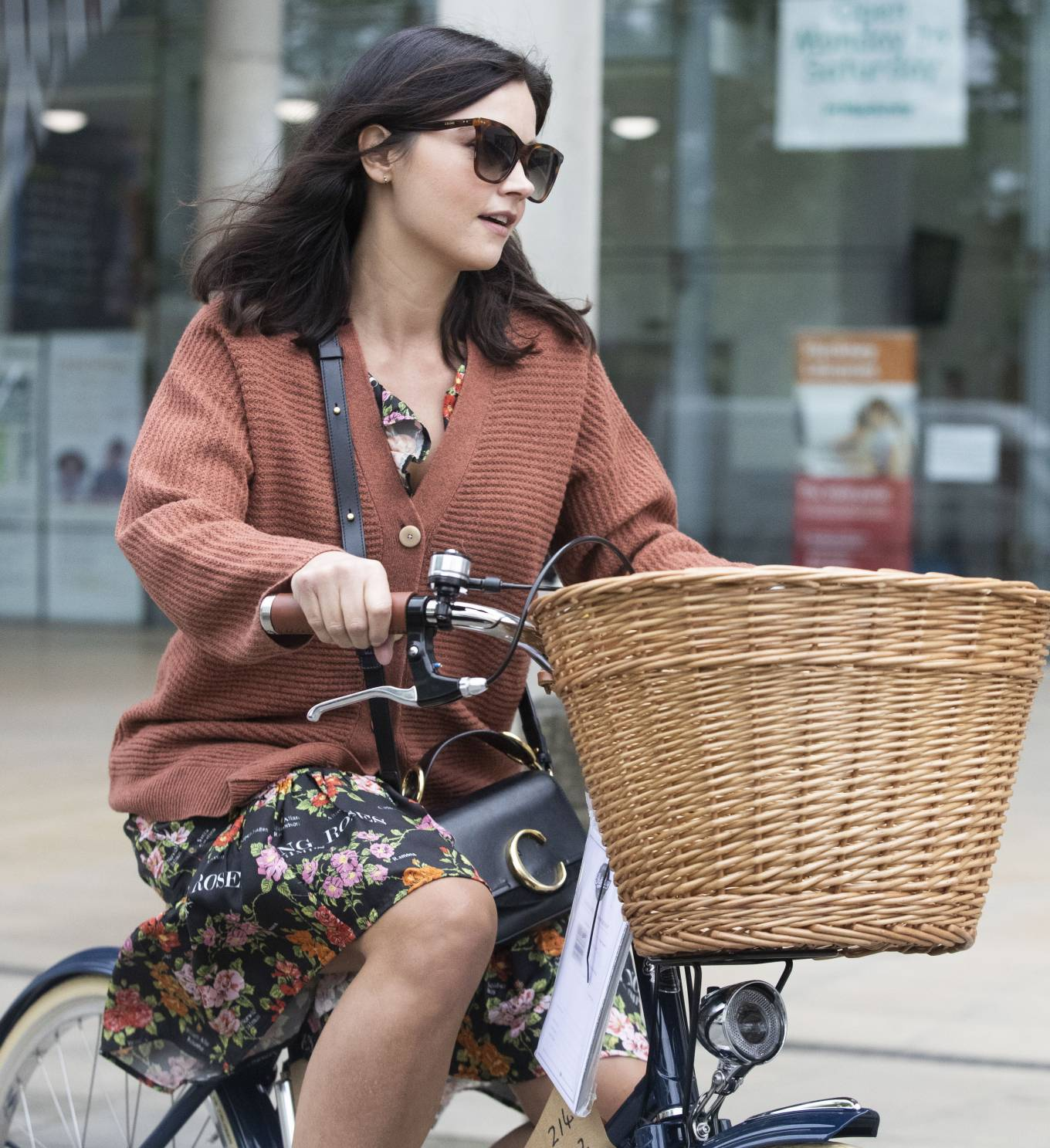Jenna Coleman - Riding her new bike in London