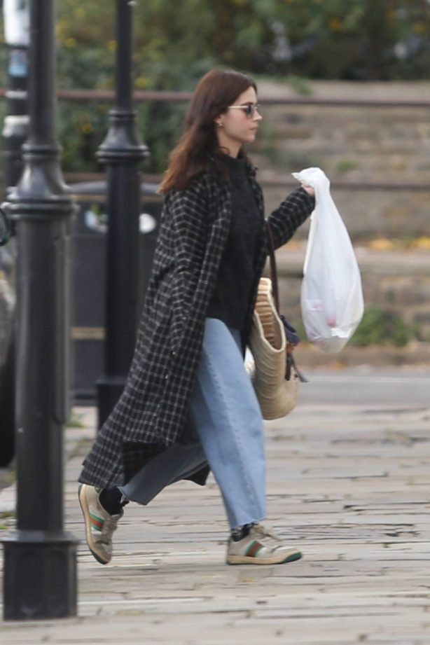 Jenna Coleman - Seen at the petrol station in London
