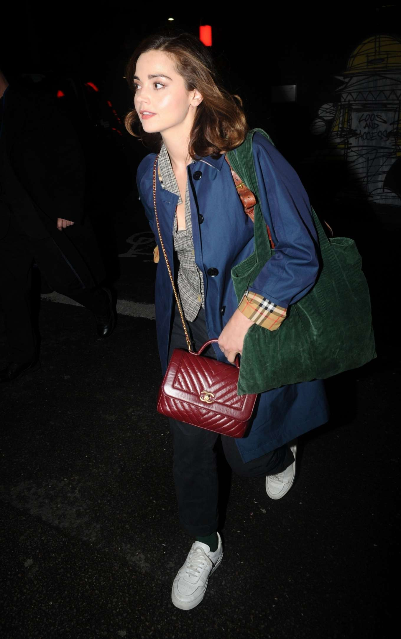 Jenna Coleman - Seen outside The Old Vic in London
