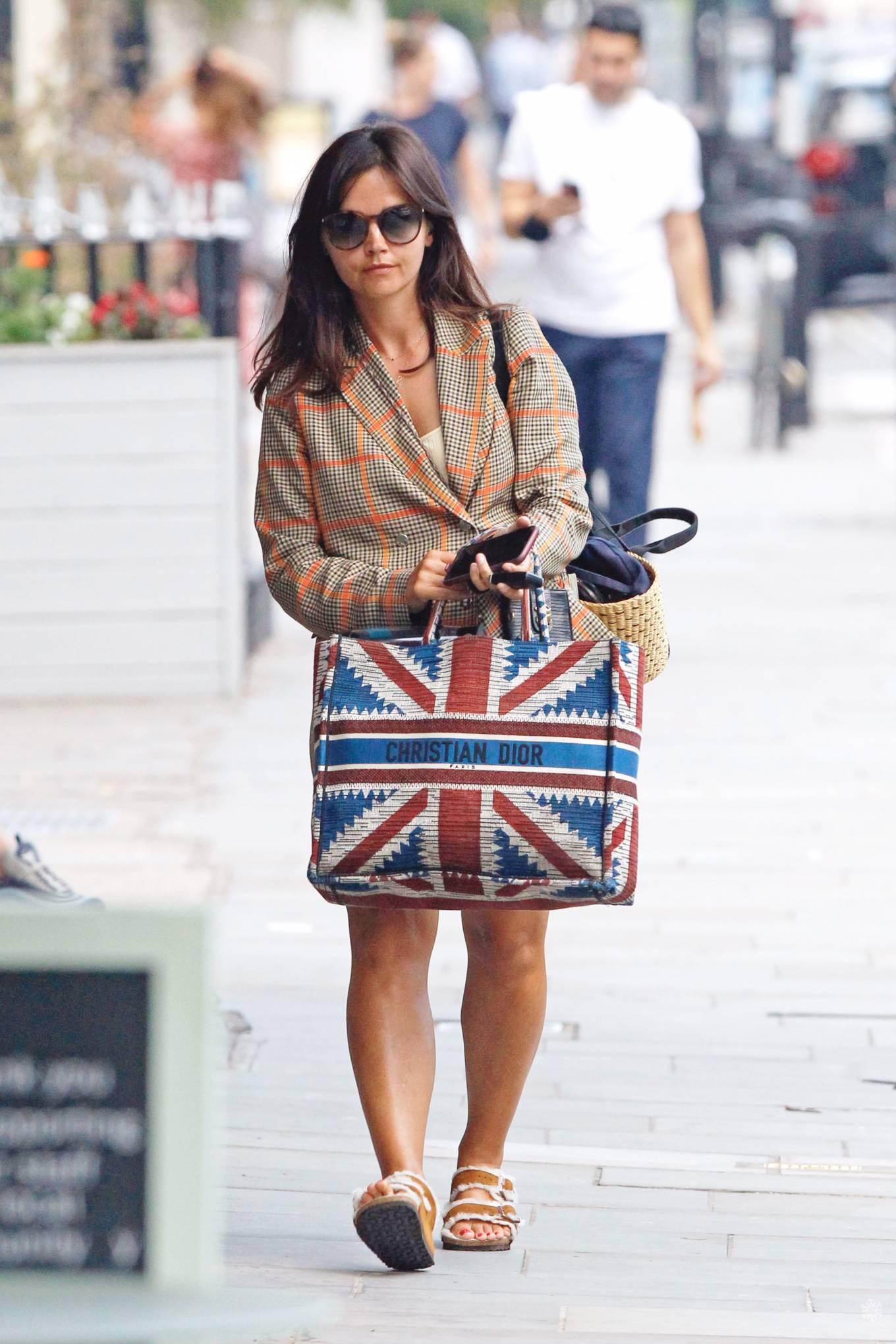 Jenna Coleman - Shopping candids in London