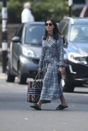 Jenna Coleman - Spotted leaving her home in London