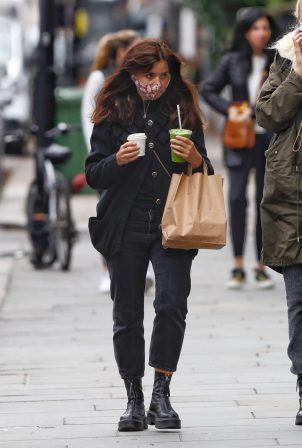 Jenna Coleman - Spotted wearing a mask in Notting Hill