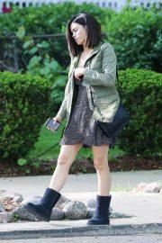 Jenna Dewan - Filming a scene for her Netfix project in Chicago