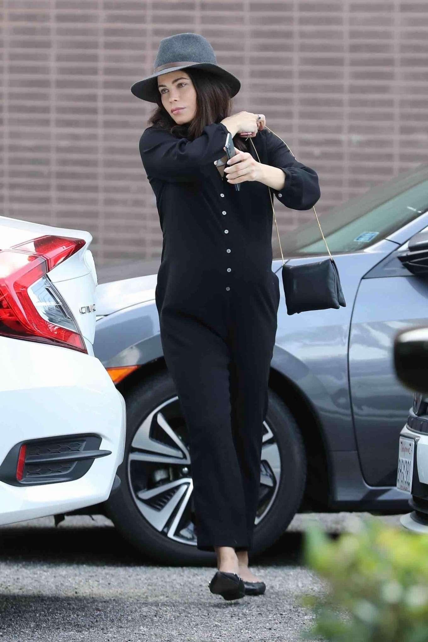 Jenna Dewan 2020 : Jenna Dewan in Black Jumpsuit – Out in Beverly Hills-05