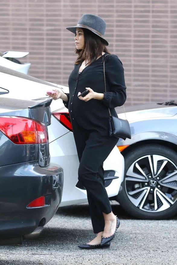 Jenna Dewan in Black Jumpsuit - Out in Beverly Hills