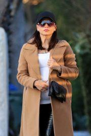 Jenna Dewan in Brown Coat - Out in Studio City