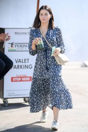 Jenna Dewan in Floral Dress - Out in Los Angeles