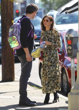 Jenna Dewan in Floral Dress - Out in West Hollywood
