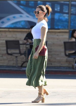 Jenna Dewan in Green Skirt - Out in Studio City