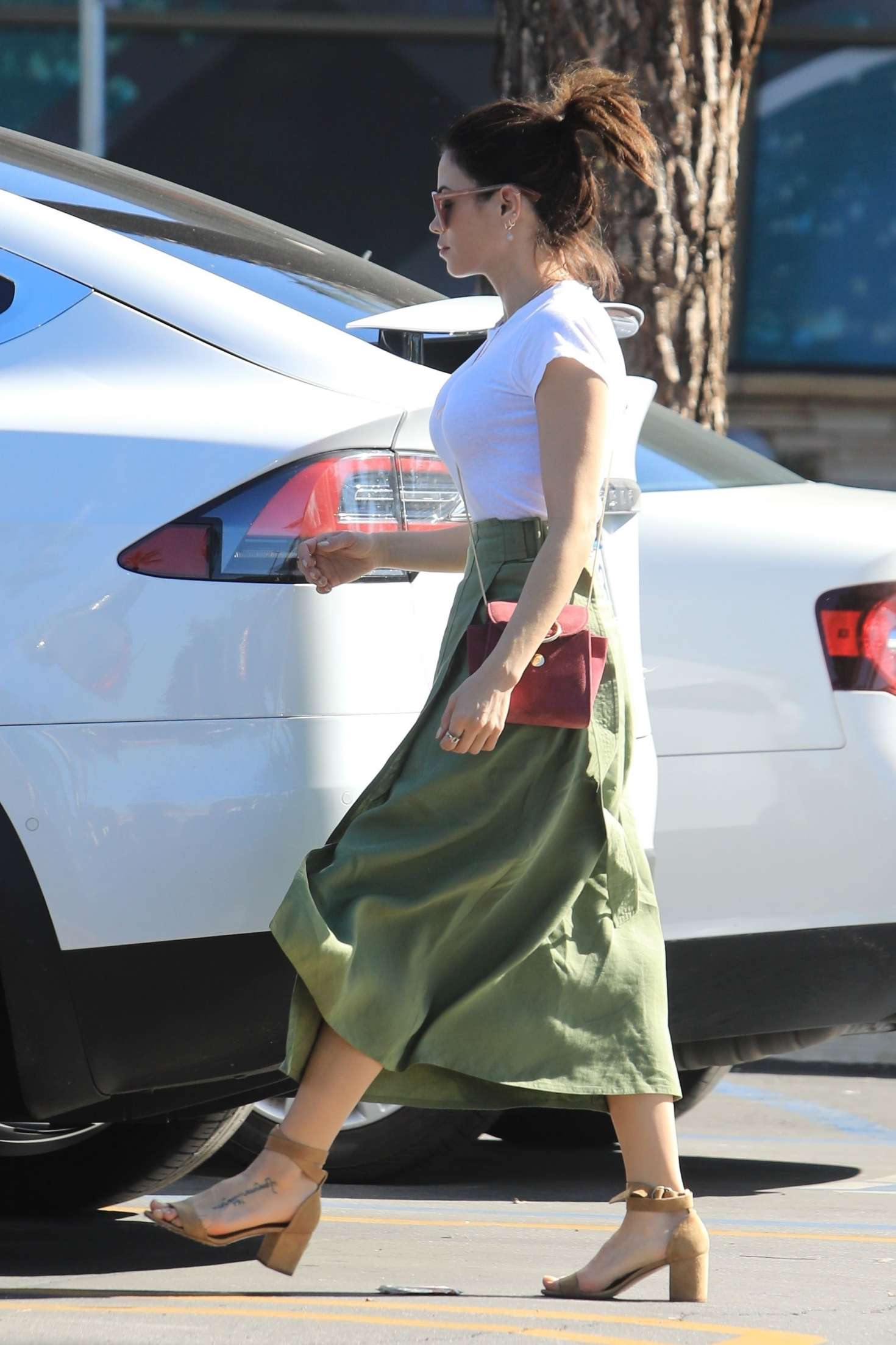 Jenna Dewan 2019 : Jenna Dewan in Green Skirt -07