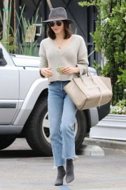 Jenna Dewan in Jeans and Hat - Out in Los Angeles