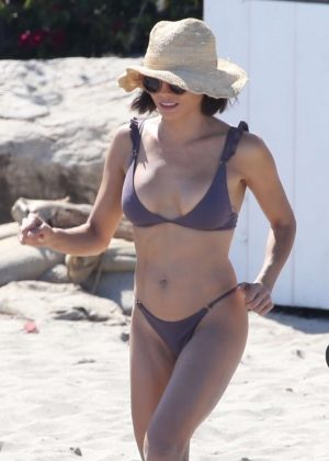 Jenna Dewan in Lavender Bikini on the beach in Malibu