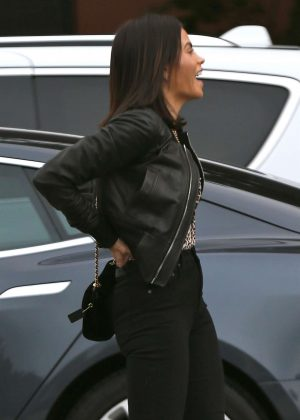 Jenna Dewan in Leather Jacket - Out in Los Angeles