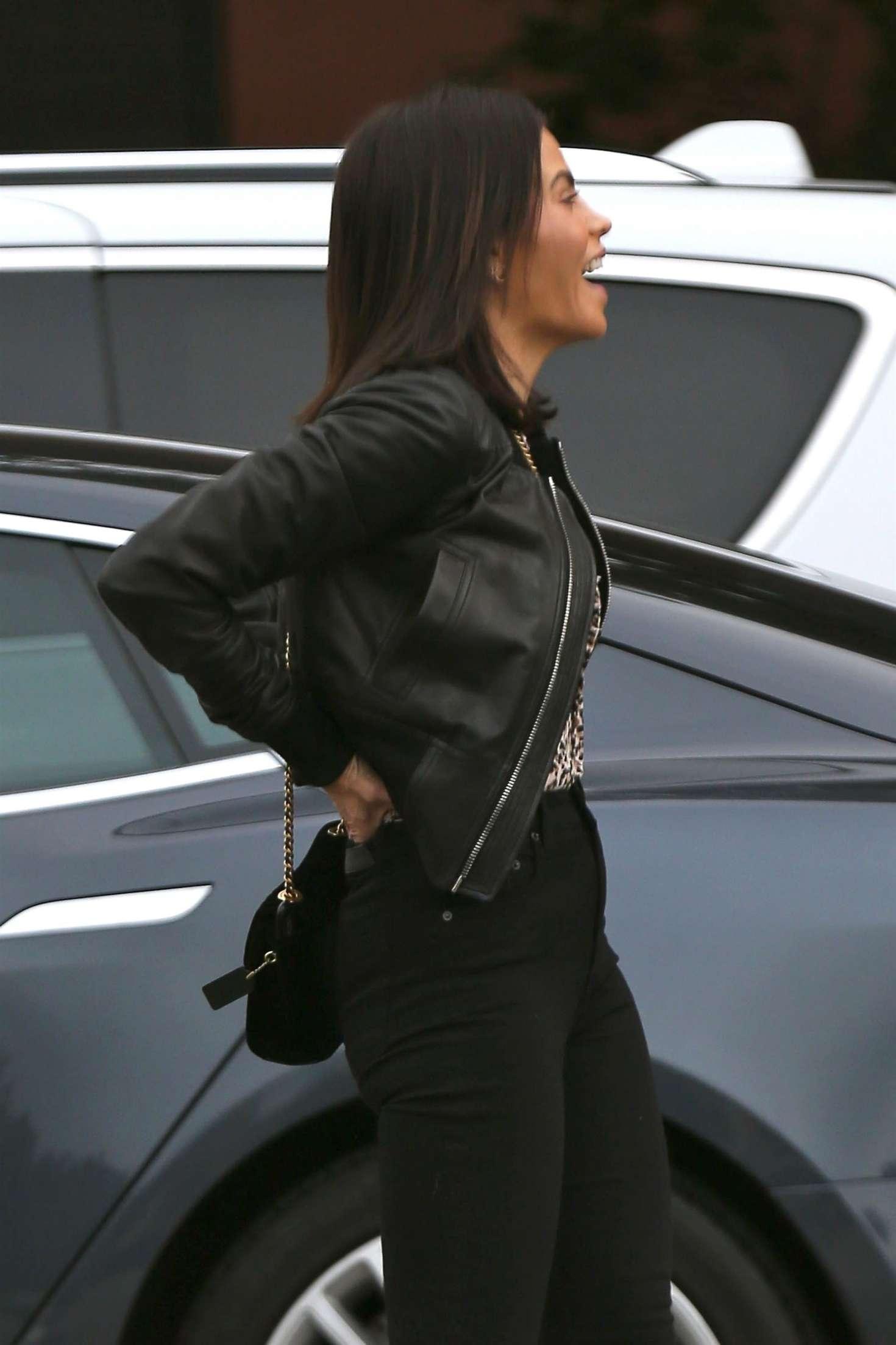 Jenna Dewan in Leather Jacket - Out in Los Angeles