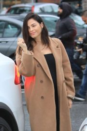 Jenna Dewan in Long Coat - Out in Beverly Hills