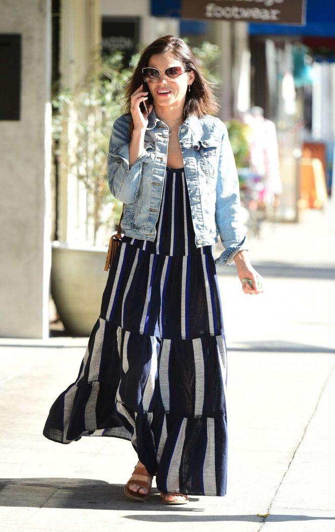 Jenna Dewan in Long Dress - Out in Los Angeles