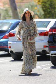 Jenna Dewan in Long Summer Dress - Out in Beverly Hills