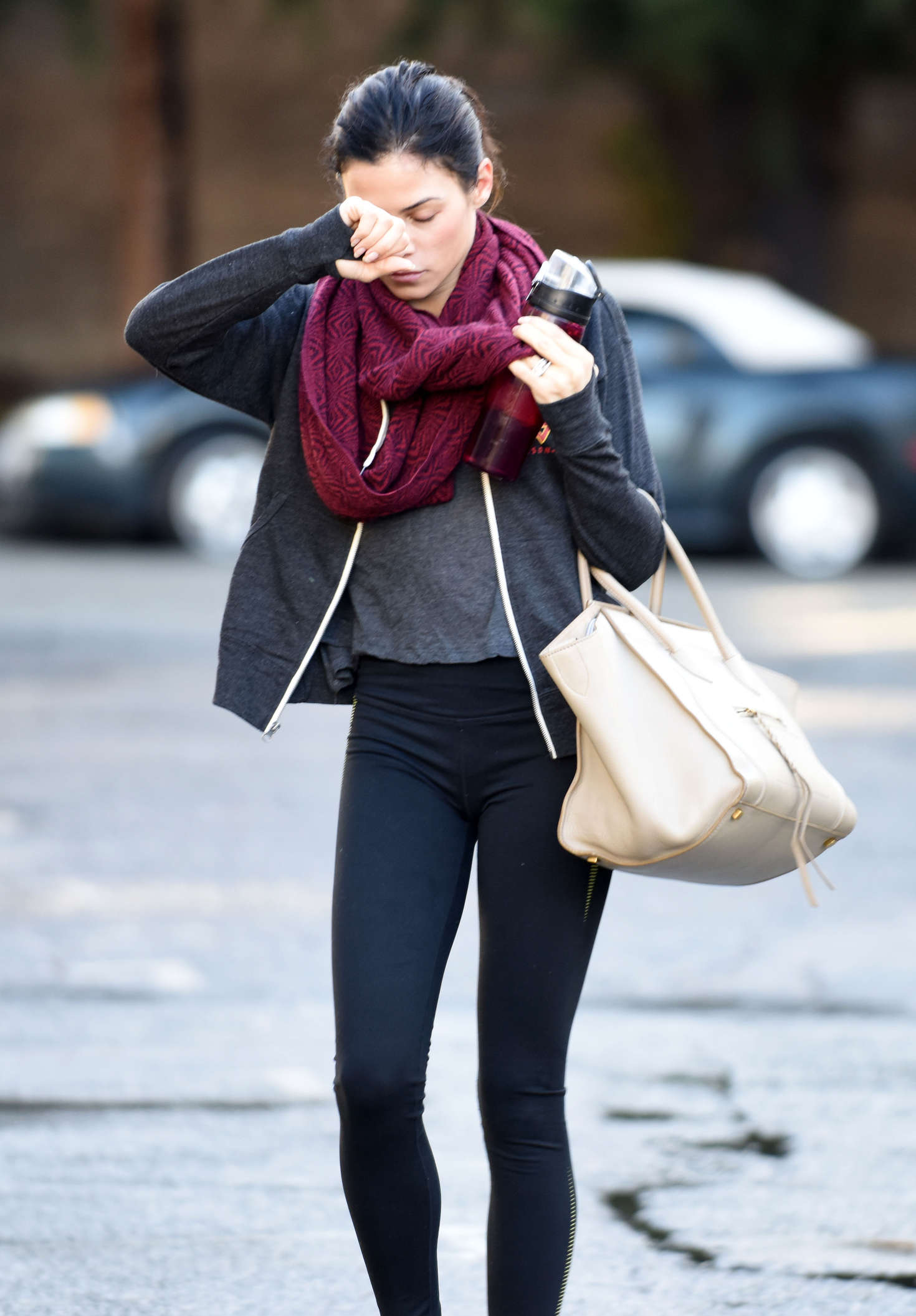 Jenna Dewan Tatum in Tights at Dance studio in LA