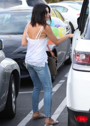 Jenna Dewan Tatum celebrating Channing's 37th birthday party at Pinz Bowling in Studio City