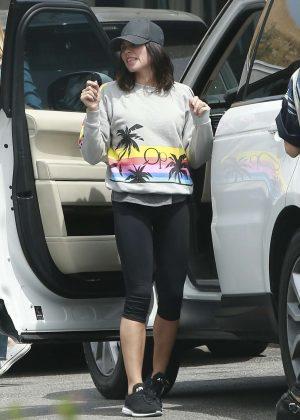 Jenna Dewan Tatum in Black Tights out in Los Angeles